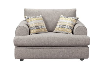 An Image of Habitat Atticus Fabric Cuddle Chair - Grey