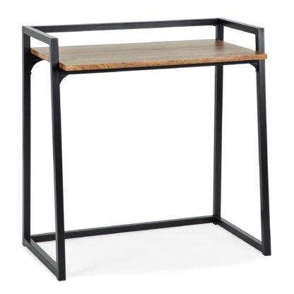 An Image of Alfie Rustic Wood Effect Desk Wood (Brown)