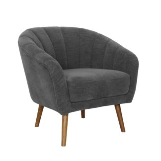 An Image of Romilly Chenille Armchair - Dark Grey Grey