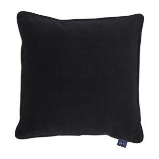 An Image of Plush Velvet Cushion Black