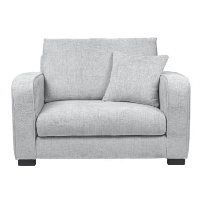 An Image of Carson Chunky Chenille Snuggle Chair Pebble