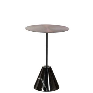 An Image of Metal and Marble Lamp Table