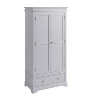 An Image of Pewter Grey 2 Door Wardrobe Grey