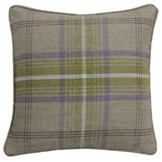 An Image of Beige Tartan Thistle Cushion