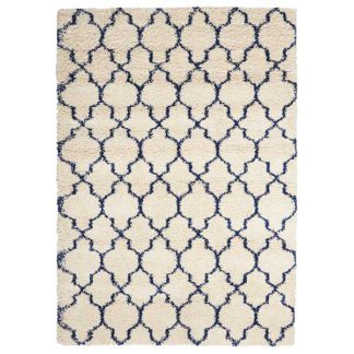 An Image of Amore 2 Rug Ivory Blue