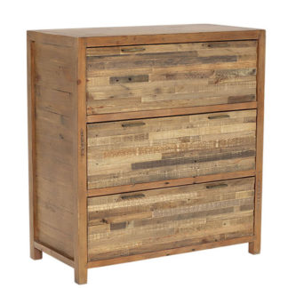 An Image of Charlie Reclaimed Wood 3 Drawer Chest