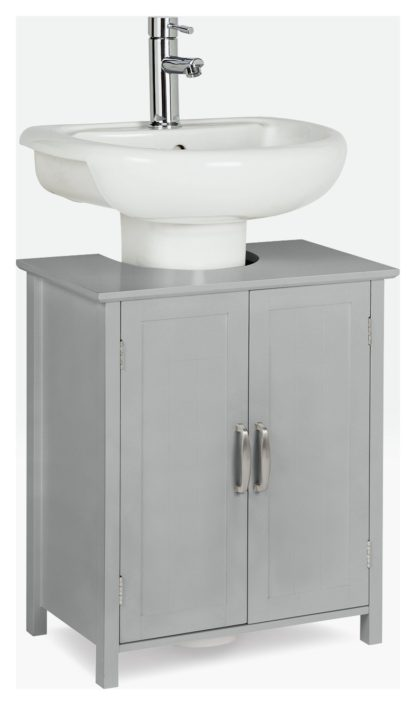 An Image of Argos Home Tongue & Groove Under Sink Unit - Grey