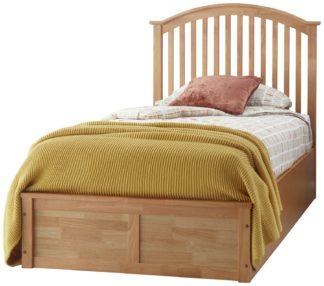 An Image of GFW Madrid Ottoman Single Bed Frame - Oak Effect