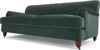 An Image of Orson 3 Seater Sofa, Autumn Green Velvet