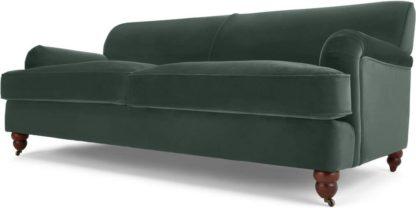 An Image of Orson 3 Seater Sofa, Autumn Green Velvet