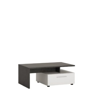 An Image of Solan 2 Drawer Coffee Table - Grey & White