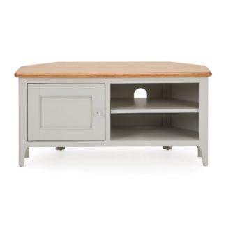 An Image of Freya Corner TV Stand Grey