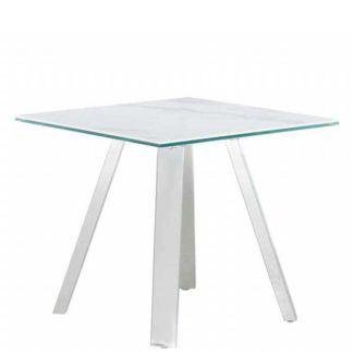 An Image of Ginostra Lamp Table White Marble