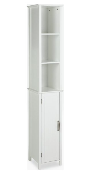 An Image of Argos Home Tongue & Groove Tallboy - White