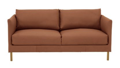 An Image of Habitat Hyde 2 Seater Leather Sofa - Tan