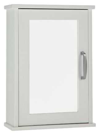 An Image of Argos Home Tongue & Groove Mirrored Cabinet - White