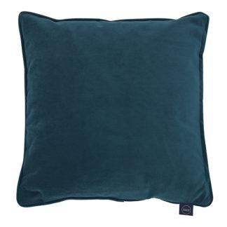 An Image of Plush Velvet Cushion Petrol