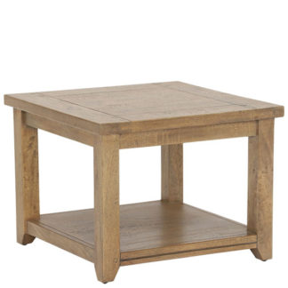 An Image of Antix Lamp Table With Shelf Smokehouse Distress