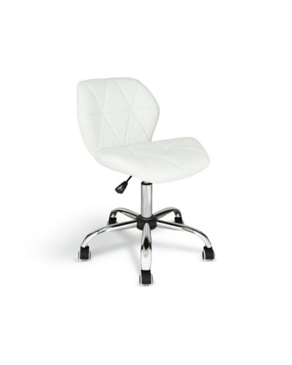 An Image of Habitat Boutique Faux Leather Office Chair - White