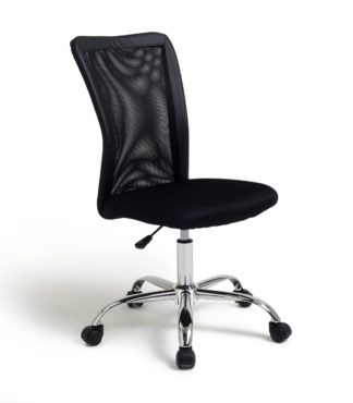 An Image of Habitat Reade Mesh Office Chair - Black