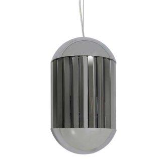 An Image of Chrome Hanging Pendant Smoked Glass