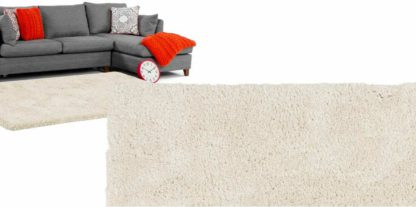 An Image of Dellis Rug, Extra Large 200 x 300cm, Off White