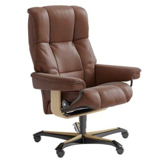 An Image of Stressless Mayfair Office Chair Choice of Leather