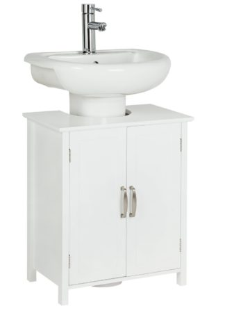 An Image of Argos Home Tongue & Groove Under Sink Unit - White