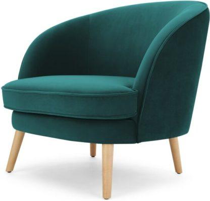 An Image of Gertie Accent Chair, Seafoam Blue Velvet