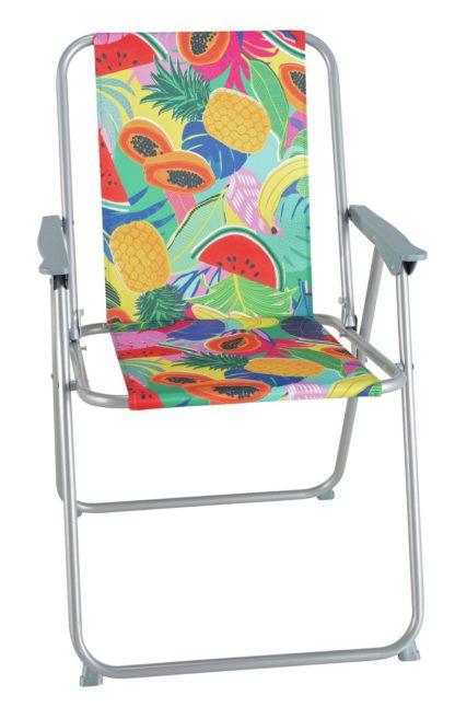 An Image of Argos Home Metal Folding Picnic Chair - Ipanema Fruit