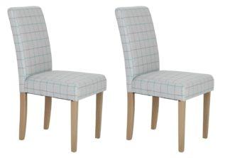 An Image of Habitat Kent Wood Veneer Dining Table & 6 Light Grey Chairs