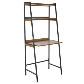 An Image of Fulton Ladder Desk Brown and Grey