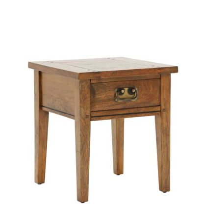 An Image of New Frontier Mango Wood Lamp Table