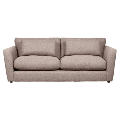 An Image of Esther Fleck Fabric 3 Seater Sofa Charcoal