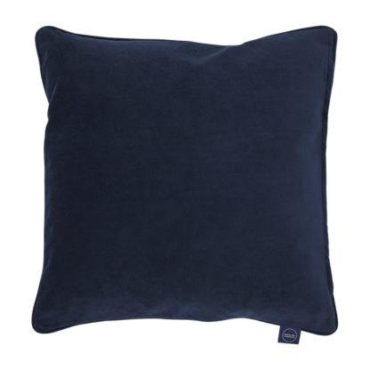 An Image of Plush Velvet Cushion Navy