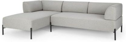 An Image of Kiva Left Hand Facing Chaise End Corner Sofa, Hail Grey