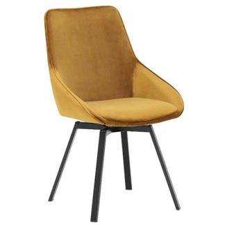 An Image of Beckton Dining Chair Golden
