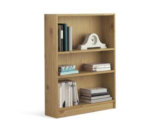 An Image of Habitat 2 Shelf Small Bookcase - Oak Effect