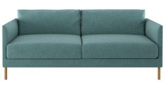An Image of Habitat Hyde 3 Seater Fabric Sofa - Teal