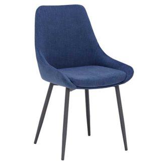 An Image of Emmett Dining Chair Blue