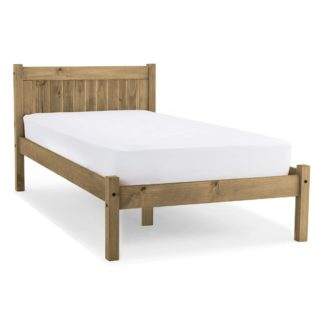 An Image of Maya Single Bed Frame Brown