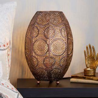 An Image of Rosario Moroccan Copper Table Lamp Copper