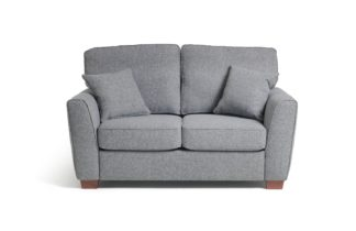 An Image of Habitat Milford 2 Seater Fabric Sofa - Grey