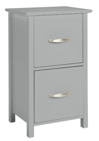 An Image of Argos Home Tongue & Groove 2 Drawer Unit - Grey