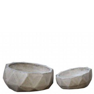 An Image of Geradis Pair of Pots Concrete