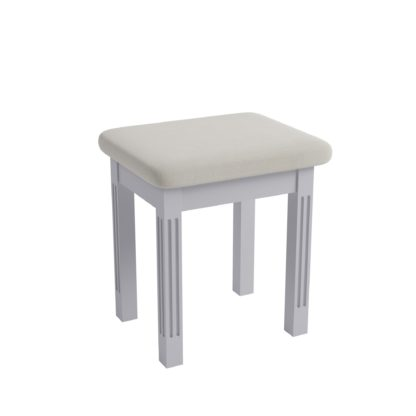 An Image of Pewter Dressing Table Stool Grey