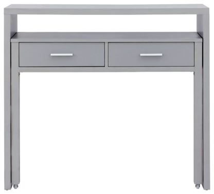 An Image of Regis 2 Drawer Console Desk - Grey