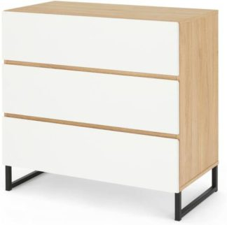 An Image of Hopkins Chest of Drawers, White & Oak Effect