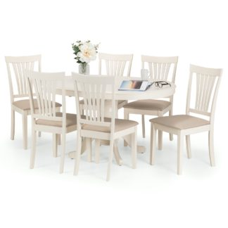 An Image of Stanmore Dining Table with 4 Chairs Ivory