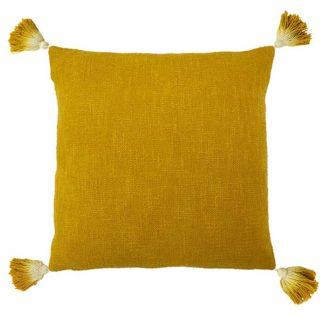 An Image of Juniper Tassel Cushion Ochre